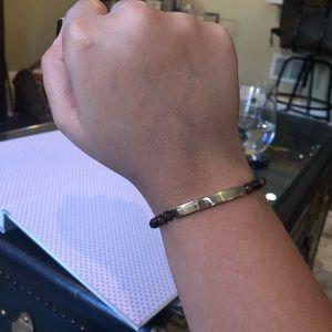 MICHAEL KORS- tortoise bead slider bracelet